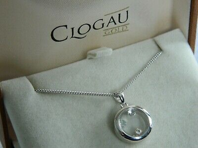 Clogau Silver & 9ct Rose Gold Inner Charm Circle Pendant RRP £149.00 • 36.95£