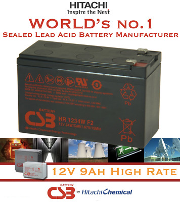 AU32.99 • Buy HITACHI CSB 12V 9AH AGM SLA Battery > 12V 7Ah 7.2ah For Eaton MGE UPS NBN Alarm