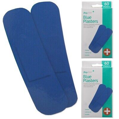 £3.98 • Buy 120x DETECTABLE BLUE PLASTERS Waterproof Kitchen Catering Wound Injury Dressing