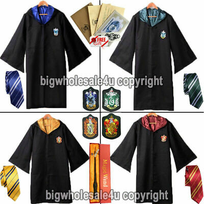 AU21.70 • Buy Harry Potter Adult Kids Robe Cloak Gryffindor Slytherin Tie Cosplay Costume Cape