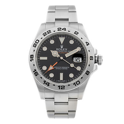 $ CDN11228.03 • Buy Rolex Explorer II Steel GMT Orange Hand Black Dial Automatic Mens Watch 216570