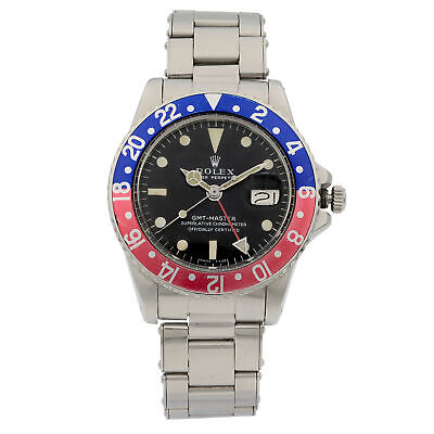 $ CDN21357.86 • Buy Vintage Rolex GMT-Master 1966 Pepsi Black Dial Automatic Mens Watch 1675