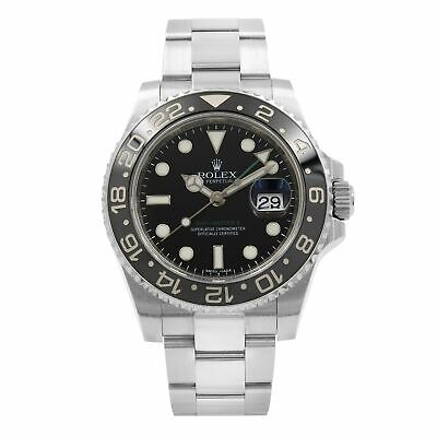 $ CDN12947.68 • Buy Rolex GMT Master II Black Dial Oyster Band Steel Automatic Mens Watch 116710LN