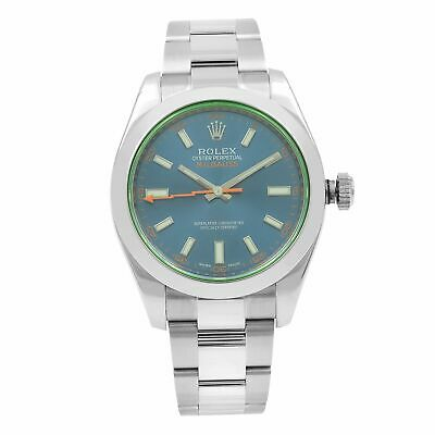 $ CDN11999.26 • Buy Rolex Milgauss Stainless Steel Blue Dial Automatic Mens Watch 116400GV