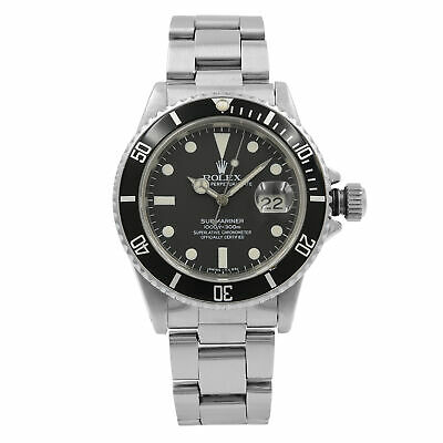 $ CDN13332.66 • Buy Rolex Submariner Black Matte Patina Dial Steel Automatic Mens 1983 Watch 16800