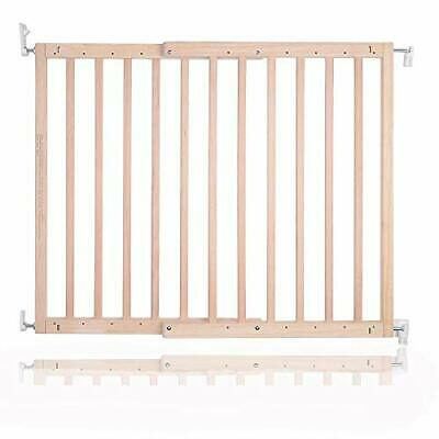 £55.99 • Buy Chunky Natural Wood Wooden Screw Fit Stair Gate 63.5 To 105.5 Cm