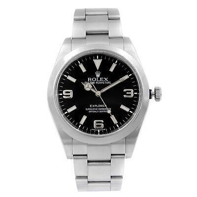 $ CDN13913.22 • Buy Rolex  Explorer 39mm Stainless Steel Black Dial Automatic Mens Watch 214270