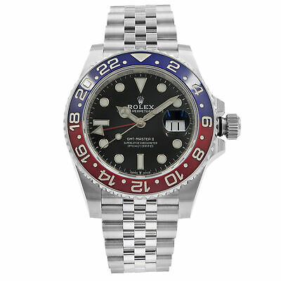 $ CDN24027.76 • Buy Rolex GMT-Master II Pepsi Ceramic Steel Automatic Mens Black Watch 126710BLRO
