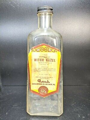 $34.99 • Buy Vintage Read Drug & Chemical Empty Witch Hazel Extract Bottle Baltimore Maryland