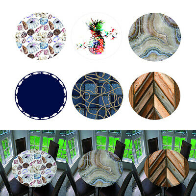 AU23.26 • Buy Dining Table Cover Elastic Edged Tablecloth Round PROTECTOR For Home Hotel
