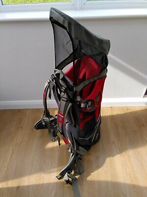 Little Life Backpack Carrier Cross Country S2 Red With Sunshade • 41£