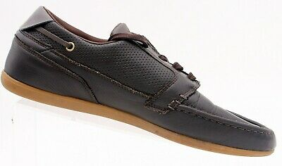 Lacoste Dreyfus Mens Sport Casual Brown Leather Boat SHOES Sz 9  • 27.65£