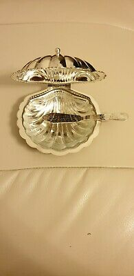 Silver Plated Shell Butter Dish • 5£