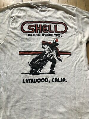 $ CDN90.97 • Buy RARE Vintage 70's Flat Track Shell Racing Hank Scott T-Shirt Medium Yamaha XS650
