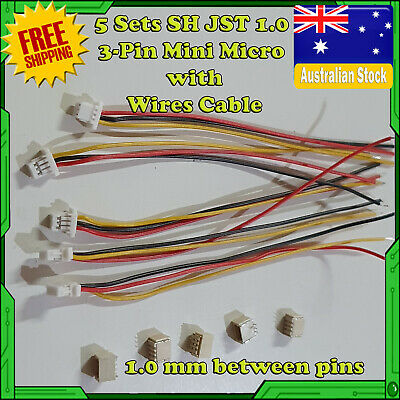 AU7 • Buy 5 Sets SH JST 1.0 3-Pin Mini Micro Connector With Wires Cable