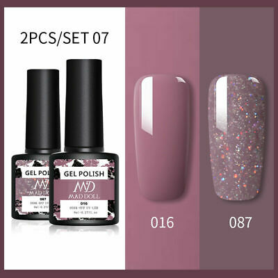 BORN PRETTY 6ml 2Pcs/set UV LED Nail Gel Polish Soak Off Varnish Base Top Coat • 5.59£