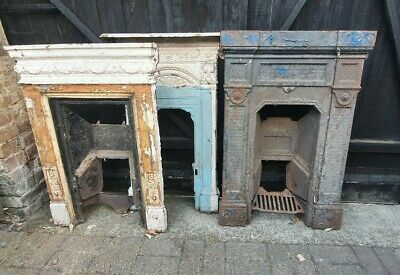 Old Cast Iron Fireplace Victorian Style ? Edwardian Style ? Fire Place X1 • 50£