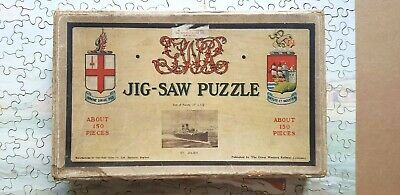 G.W.R. 1928 - 31 Wooden Jig-Saw Puzzle ST.JULIEN Great Western Railway Shipping • 38£