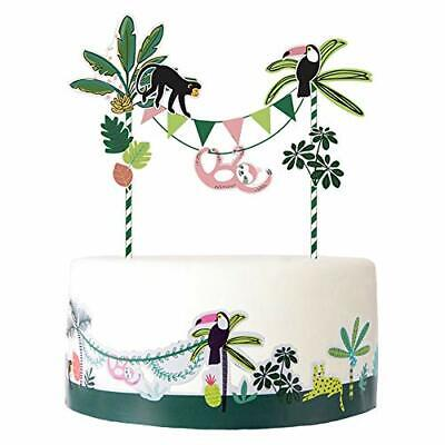 £11.99 • Buy SUNBEAUTY Cake Toppers Jungle Theme Birthday Animals Safari Party Decorations