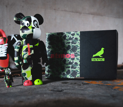 $220.99 • Buy Staple X Atmos X Medicom Toy 400% And 100% Be@rbrick Set V. 3 *IN HAND*