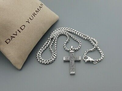 $220 • Buy David Yurman Men's Small Sky Cross Pendant Necklace With 20 In Chain
