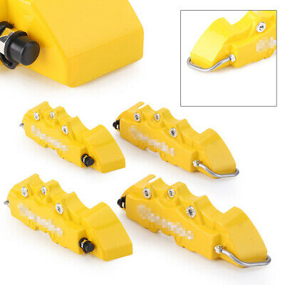 $ CDN20.12 • Buy 4X 3D Brake Caliper Covers Universal Car Style Disc Yellow Front Rear Kit 14-17