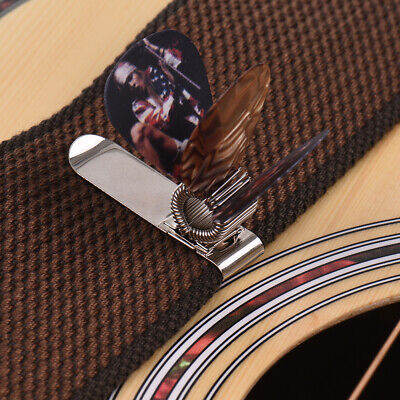 $ CDN5.95 • Buy Universal Guitar Picks Holder Clip Metal With 3pcs Picks(Guitar Picks A9Q7