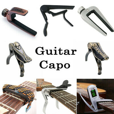 $ CDN7.84 • Buy Guitar Capo Quick Change Clamp Key For Classical Acoustic Electric Bass Guitar