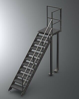 1m High Steel Staircase  |  Metal Staircase  | Fire Escape Metal Staircase  • 808.80£