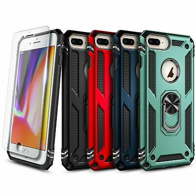 AU12.01 • Buy For IPhone 6 6s 7 8 Case Ring Kickstand Cover With Tempered Glass Protector