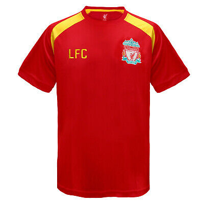 Liverpool FC Official Football Gift Boys Poly Training Kit T-Shirt • 9.99£