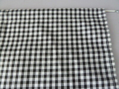 Black And White 1/4  Gingham Check Cupboard Single Curtain 35   X 42  Free Post • 12.50£