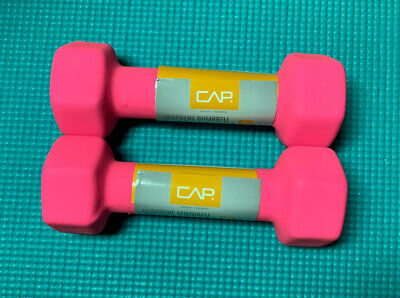 $ CDN29 • Buy (Pink) CAP Neoprene Hex 3 Lb Dumbbell Hand Weights Pair Of 2 . FAST SHIPPING.
