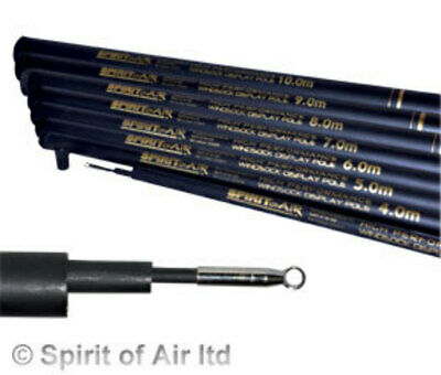 4m Top Performance Spirit Of Air Telescopic Flag Pole • 12.99£