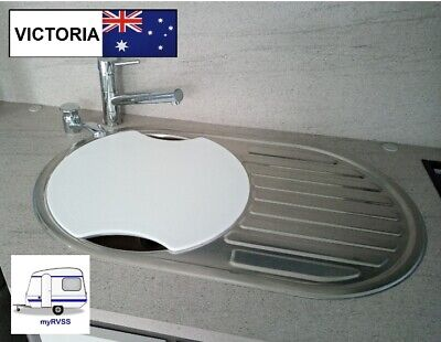 AU49 • Buy Jayco Caravan Round Sink Cover Cutting Board SMEV Dometic INCLUDES POST
