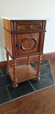 AU375 • Buy Antique French Bedside Table With Marble Top