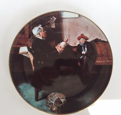 $4.90 • Buy Royalwood China Presents Norman Rockwell's  The Doctor And The Doll  Plate