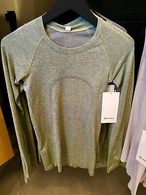 $ CDN149.99 • Buy Lululemon Swiftly Tech Long Sleeve 2.0 Asphalt Grey Lemon Vibe 2 4 6 8 10 12