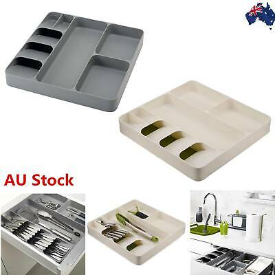 AU29.45 • Buy Tray Insert Cutlery Spoon Utensil Divider Organizer Kitchen Drawer Box Holder AU