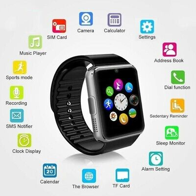 AU14.28 • Buy Smart Watch Support SIM Wristwatch For IPhone Android DZ09 GT08 NEW
