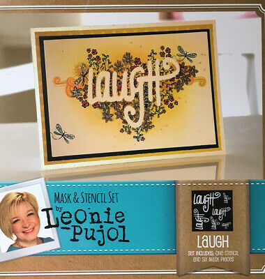 Leonie Pujol 'Laugh' Mask And Stencil Set By Crafters Companion • 2.95£