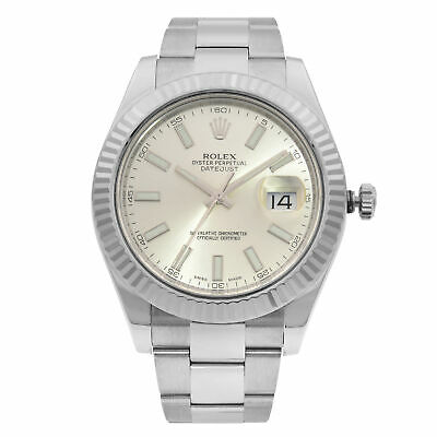 $ CDN11999.26 • Buy Rolex Datejust II Steel 18K White Gold Silver Dial Automatic Mens Watch 116334