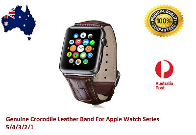 AU12.95 • Buy For Apple Watch Band Genuine Leather Strap IWatch Series 5 4 3 2 1 38 40 42 44mm