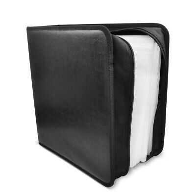AU19.95 • Buy Gecko Portable CD DVD Storing Wallet Case Pouch W/200 Sleeve/Fabric Lining BLK