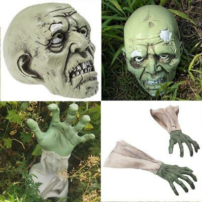 £13.99 • Buy Halloween Zombie Face Arms Scary Horror Skeleton Skull Head Hand Graveyard Props