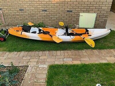 AU370 • Buy 2 Seater Used Kayak With Trolley