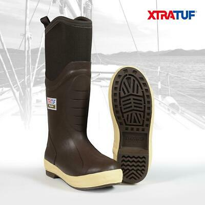 XTRATUF Men's 15  Insulated Elite Legacy Brown Lined Deck Sailing Boots (22613) • 79.95£