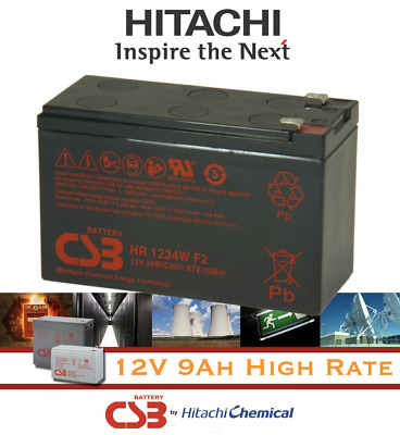 AU32.99 • Buy HITACHI CSB HR1234W F2 12V 9Ah High Rate VRLA NBN UPS Alarm Lead Acid Battery