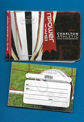 £2 • Buy 2012/13 Charlton Athletic Season Ticket Book (part Used) And Ticket Wallet