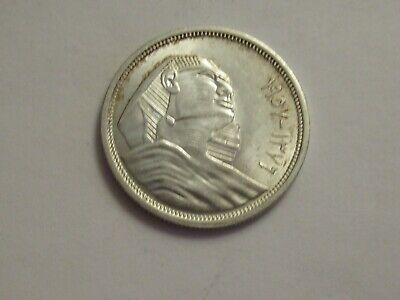 $1.99 • Buy 1957 Egypt Silver 10 Piastres, Great Sphinx Of Giza